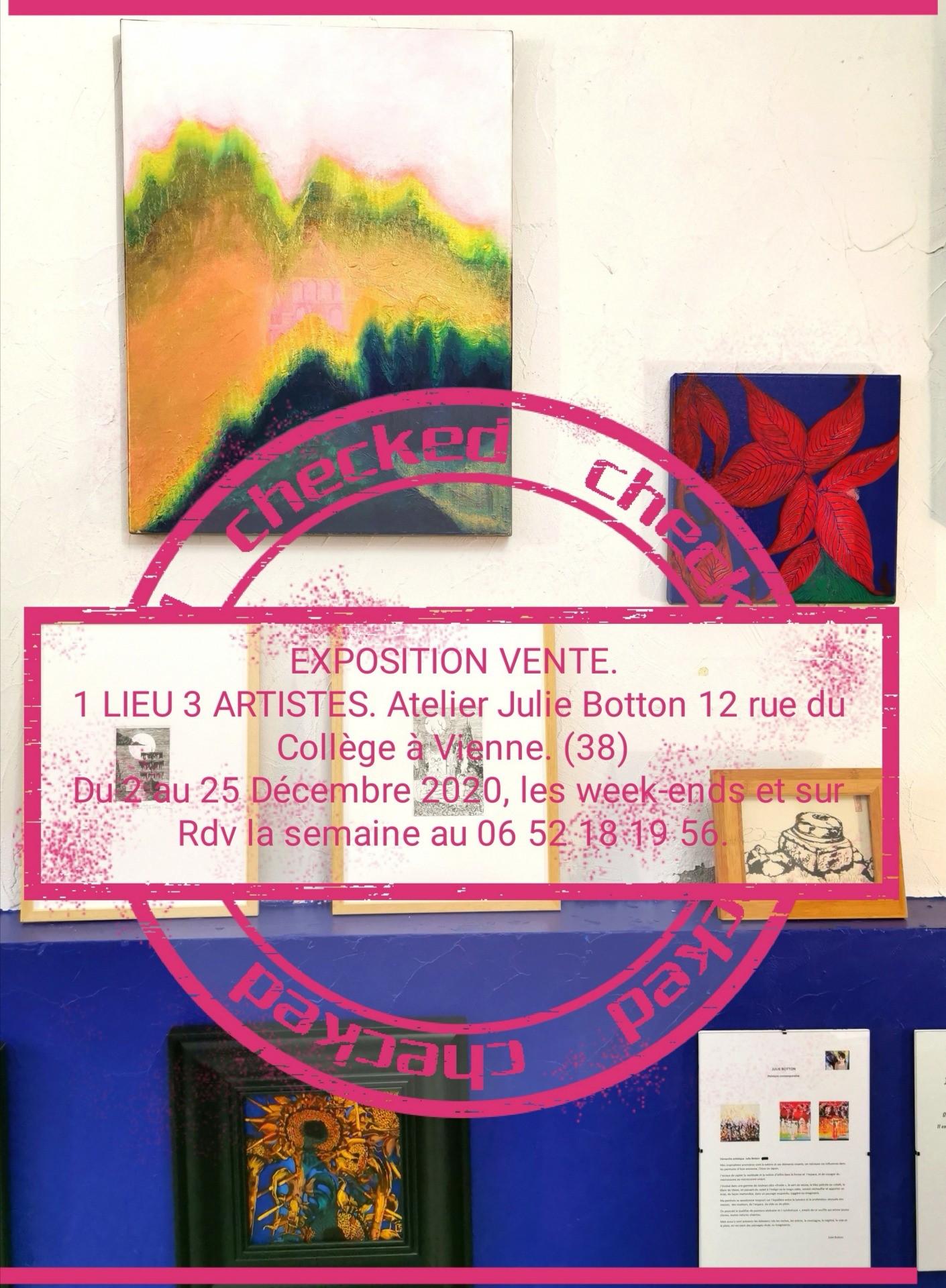 Exposition 1 lieu 3 artistes.