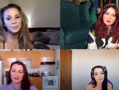 Mickie, Lisa and Val  chat with Paige on latest GAWTV episode