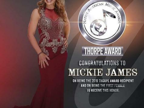 James receives, Thorpe Award, Hosts NAMA tonight!