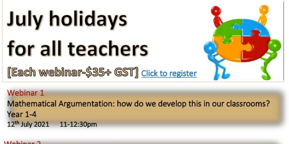 Creative Math webinars in July holidays for all teachers
