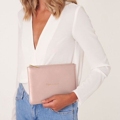 Katie Loxton 'Mum in a Million' Pouch. Pink.