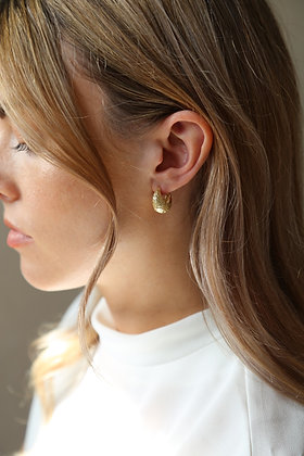Tutti and Co Dome Earrings Gold
