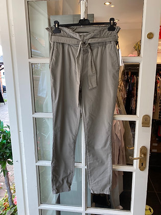 Yaya Paperbag Waist Trousers Khaki