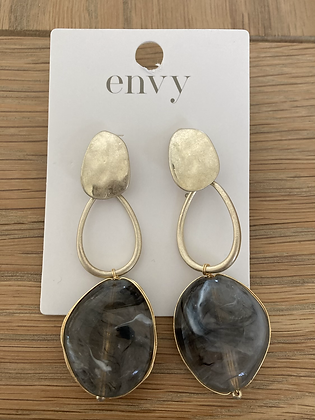 Envy Statement Earring Taupe and Gold