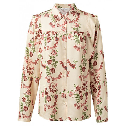 Yaya Floral Blouse with Ruffles