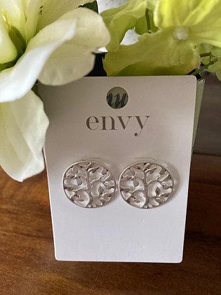 Envy Silver Tree of Life Earrings