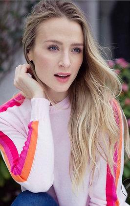 Luella Cassie Cotton Sweater Pink/HotPink/Raspberry