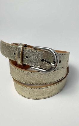 Luella Slim leather Belt Gold