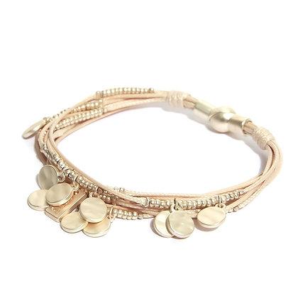 Envy Multistrand Gold Disc Bracelet.