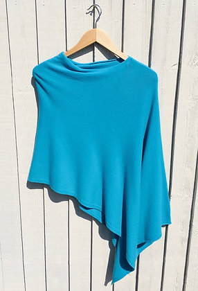 Deck Supersoft Poncho. Turquoise.