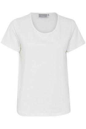 Fransa Basic Organic Cotton T-shirt White
