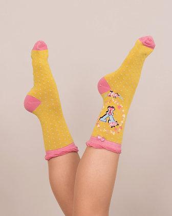 Powder Bamboo Initial Socks. Y.