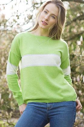 Luella Remi Cashmere Mix Sweater Lime / Silver