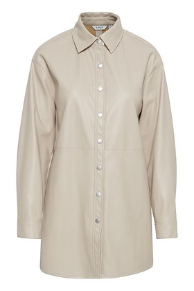 BYoung ByDota Faux leather Shirt