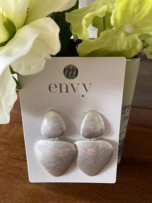 Envy Brushed Silver Drop Earrings