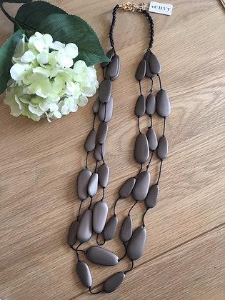 Envy Triple Strand Pebble Necklace