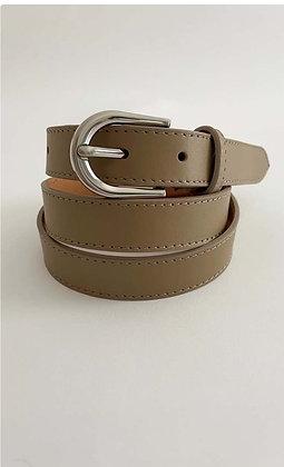 Luella Slim leather Belt Putty