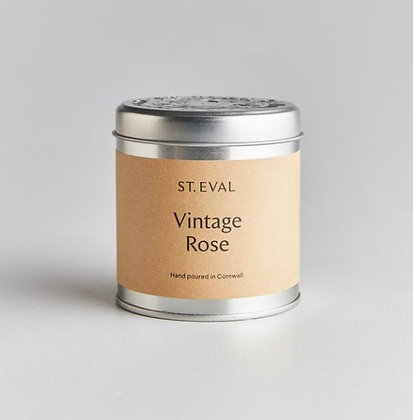 St Eval Vintage RoseTinned Candle.