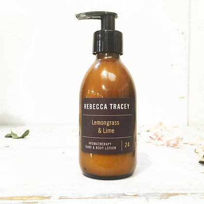 Rebecca Tracey Aromatherapy Hand  and Body Lotion Lemongrass and Lime