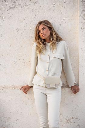 YaYa Bone White Pocket Jacket