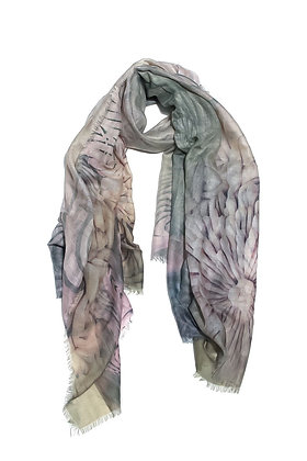 Envy Scarf Green and Pink Abstract