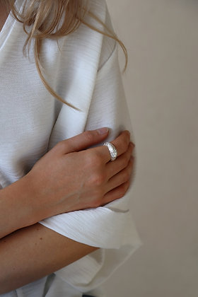 Tutti and Co Dome Ring Silver.