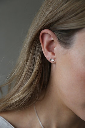 Tutti and Co Starlight Earrings Silver