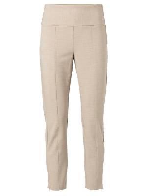 YaYa Stretch Trousers with Side Zip.  Beige