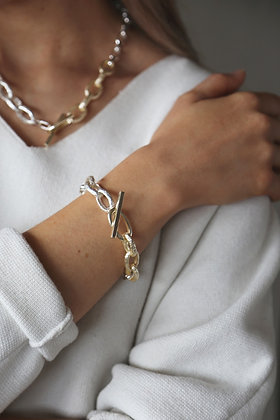 Tutti and Co Link Statement Bracelet Two Tone