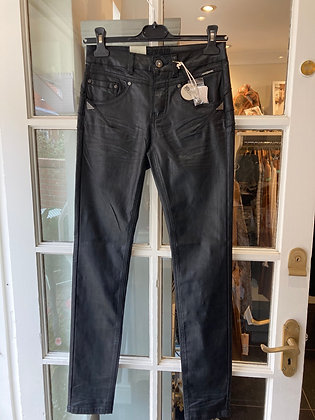Cream Black Coated Jeans