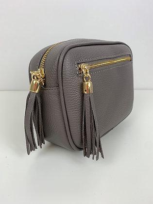 Leather Camera Bag Taupe