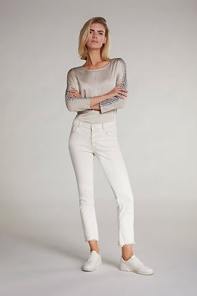 Oui Silky Feel Top with Sleeve Detail
