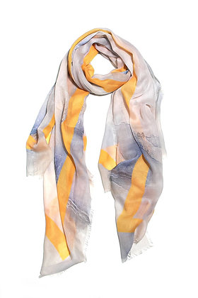 Envy Scarf Blue and Yellow Abstract