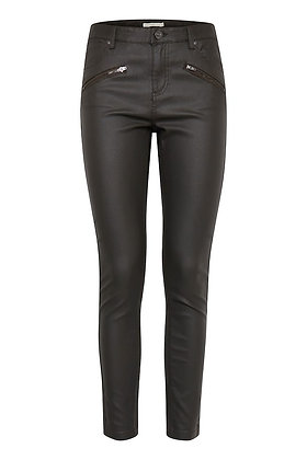 BYoung Lola Coated Jeans Black Zip Detail