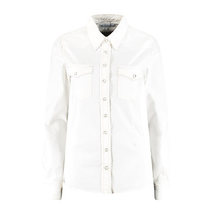 Red Button Boby Blouse Off White