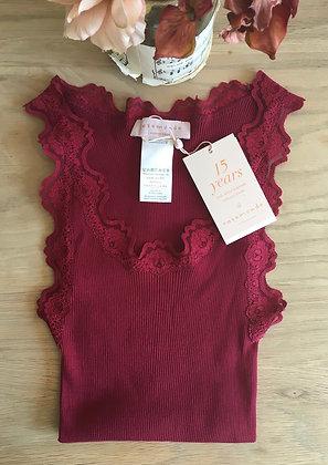 Rosemunde Lace Trimmed Vest Top.  Deep Pink
