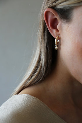 Tutti and Co Courage Earrings Gold.
