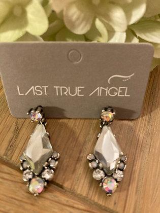 Last True Angel Earrings with Mirrored Stones