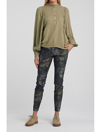Yaya Woven Blouse with Puff Sleeves