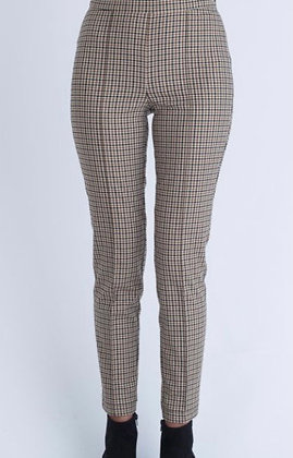 Oui Houndstooth Side Zip Trousers