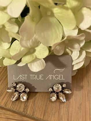 Last True Angel Vintage style Diamante Stud Earrings