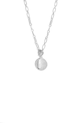 Envy Short Silver  Necklace With Silver and Pearl Pendant