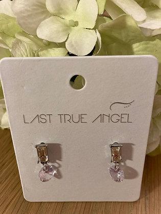 Last True Angel Delicate Crystal Drop Earrings