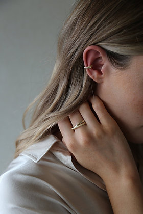 Tutti and Co Ember Ear Cuff Gold