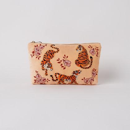 Elizabeth Scarlett  Tiger Velvet Make Up Bag