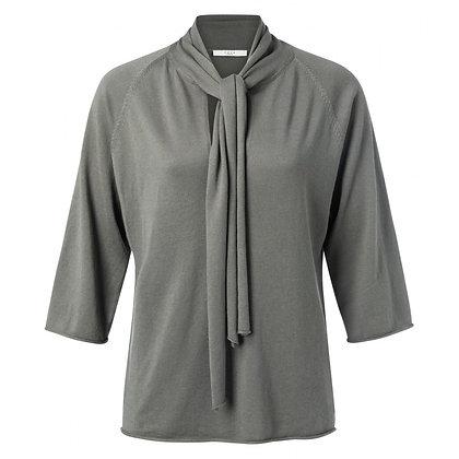 Yaya Knitted Sweater Blue Grey