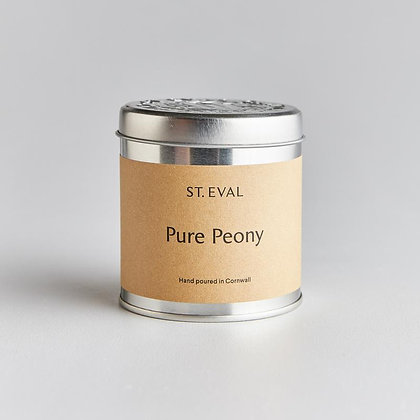 St Eval Pure Peony Tinned Candle.