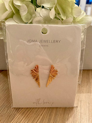 Joma Gold Plated Sunbeam Earrings