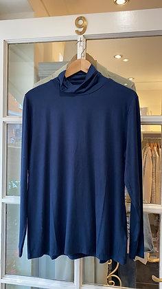 Dranella Navy Blue Jersey Polo Neck