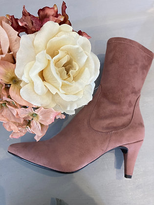 Unisa Pink stretch Suede Ankle Boots